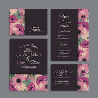 Set de invitaciones de boda