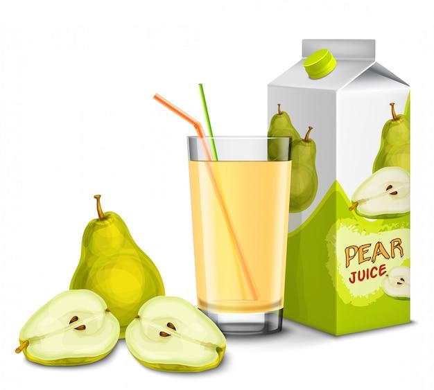 Set de jugo de pera