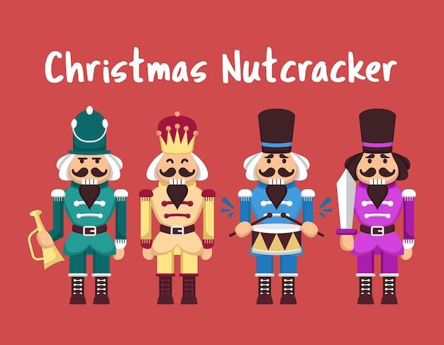 Set de juguete cascanueces navideño