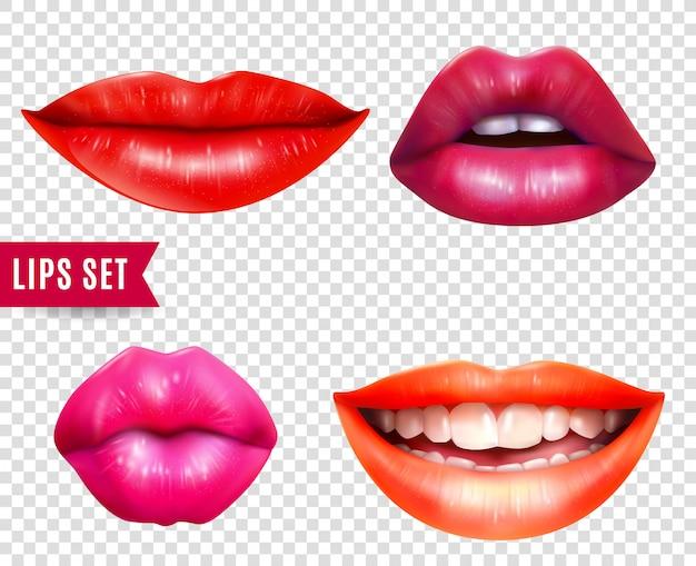 Set de labios transparentes
