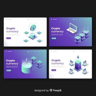 Set de landing pages de criptomonedas