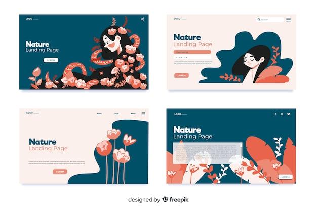 Set de landing pages de naturaleza
