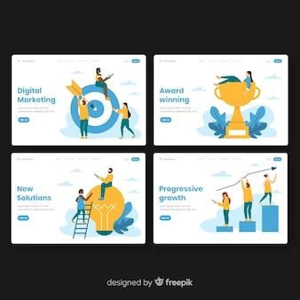 Set de landing pages de negocios