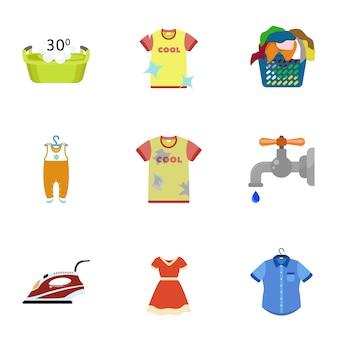 Set de lavado para el hogar, estilo plano