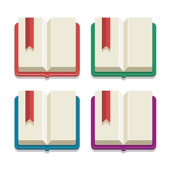 Set de libros de vectores