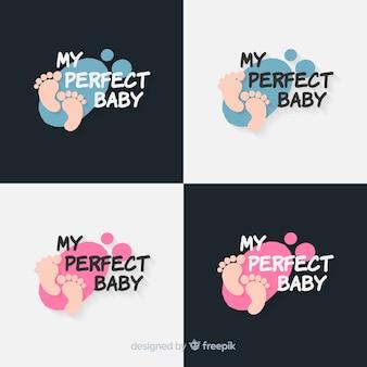 Set de logos de bebé