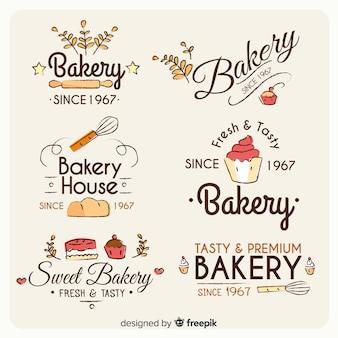 Set de logos de panadería