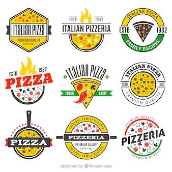 Set de logos de pizza