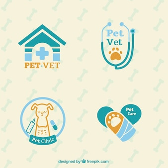 Set de logos de veterinario