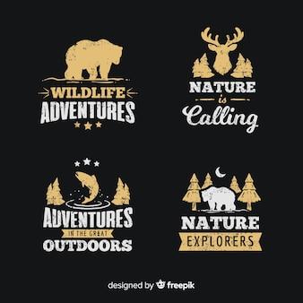 Set de logotipos de aventuras