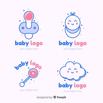 Set de logotipos de bebé