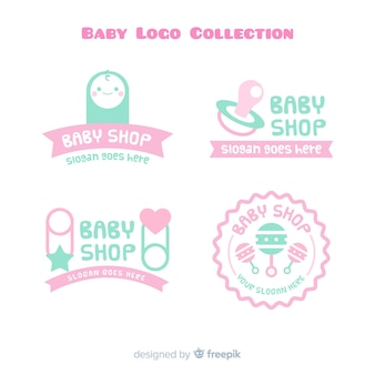 Set de logotipos de bebés