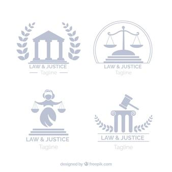 Set de logotipos de derecho