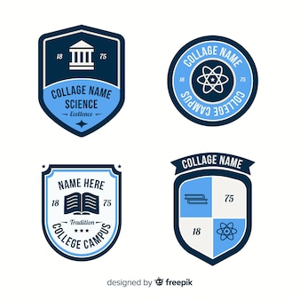 Set de logotipos escolares