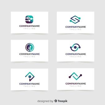 Set de logotipos de estilo tecnológico