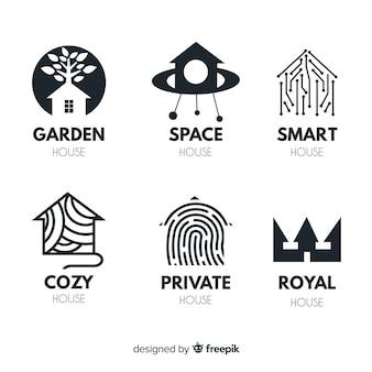 Set de logotipos de inmobiliarias