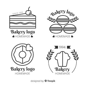 Set de logotipos de panadería