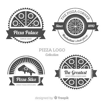 Set de logotipos de pizza
