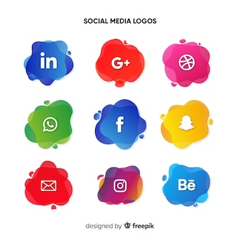 Set de logotipos de redes sociales