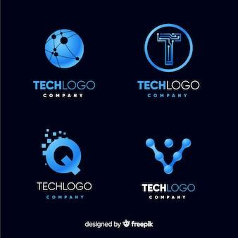 Set de logotipos tecnológicos