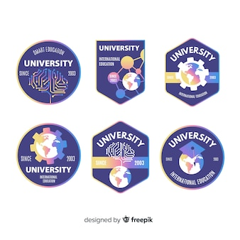 Set de logotipos de universidad