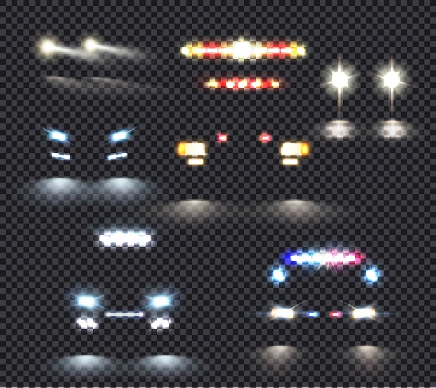 Set de luces de coche