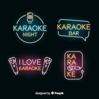 Set de luces de neon de club de karaoke