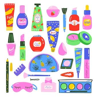 Set de maquillaje y cosmética.