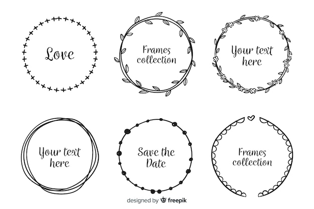 Set de marcos decorativos dibujados
