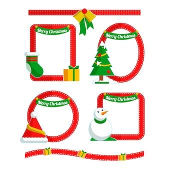 Set de marcos decorativos de navidad