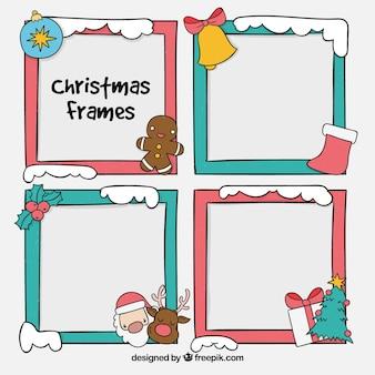 Set de marcos decorativos navideños