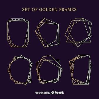 Set de marcos dorados