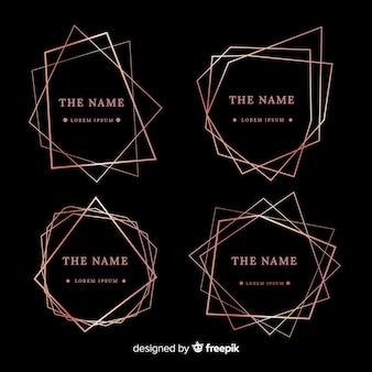 Set de marcos oro rosa