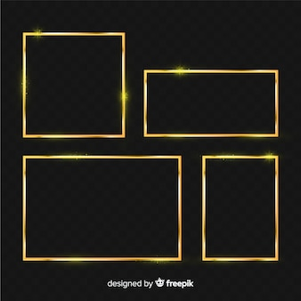 Set marcos realistas dorados