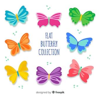 Set mariposas coloridas