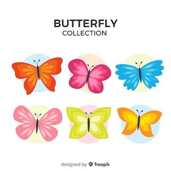 Set de mariposas