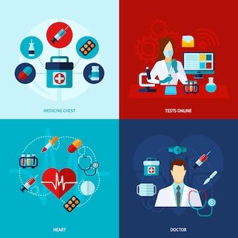 Set médico plano