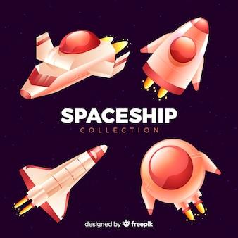 Set de modernas naves espaciales