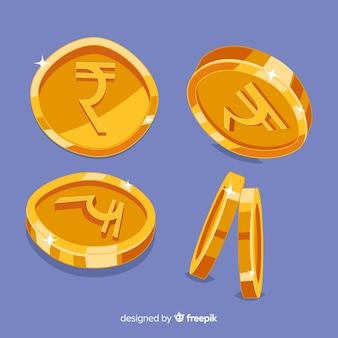 Set de monedas indias rupias