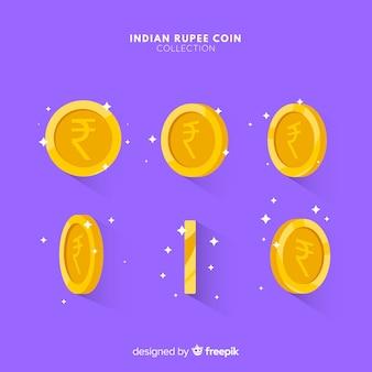 Set de monedas de rupias indias