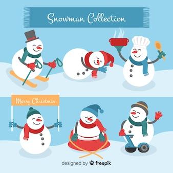 Set de muñecos de nieve
