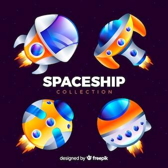 Set de naves espaciales modernas