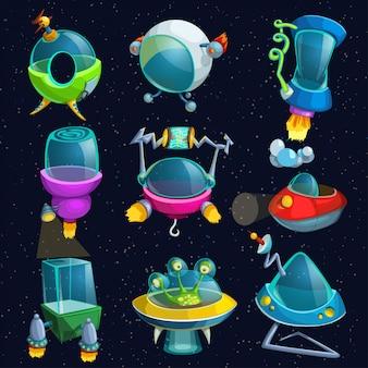 Set de naves espaciales