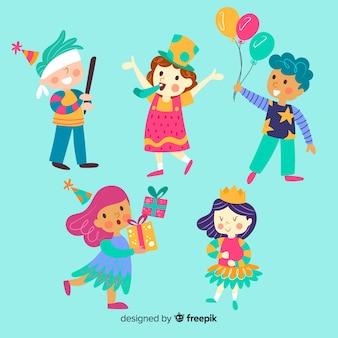 Set de niños de cumpleaños