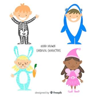 Set niños disfrazados