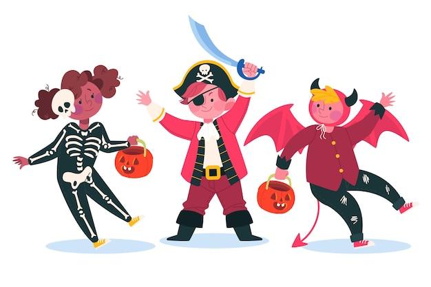Set de niños de halloween