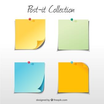 Set de notas adhesivas con chinchetas