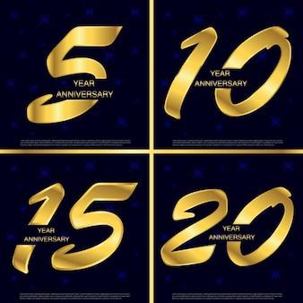 Set de números de aniversario