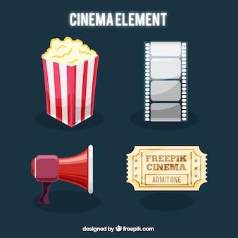Set de objetos de cine