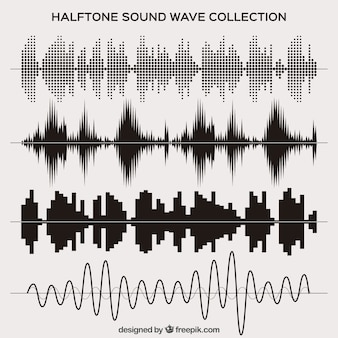 Set de ondas de sonido de medio tono